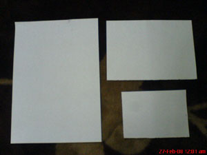 3 Size Paper
